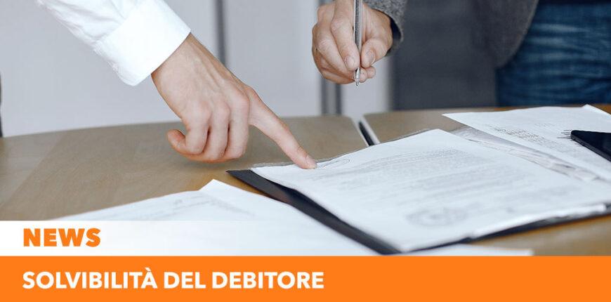 Solvibilità del debitore